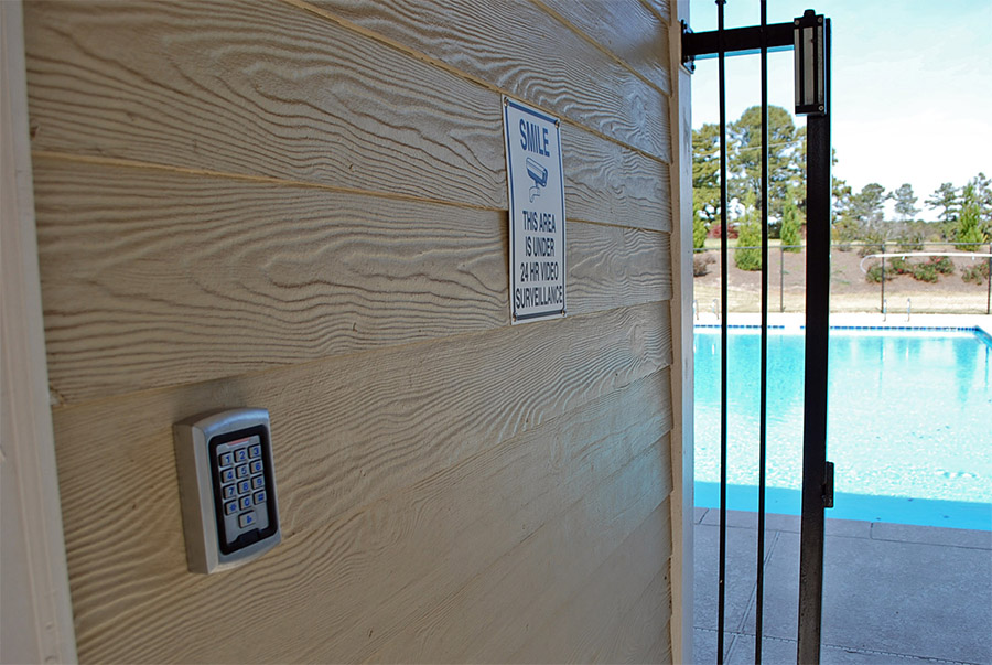 Swimming Pool Security Systems Camera Gate Keypad